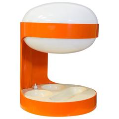 1967, Joe Colombo for Kartell, Rare Orange KD29 Table Lamp