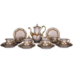 Sophisticated Meissen Coffee Service Porcelain in Decor B, 1st Choice