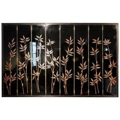 French, 1950s Lacquer Screen