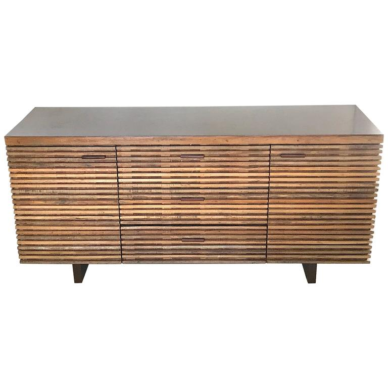 Organic Refined Rustic Cabinet Dresser Credenza Sideboard For Sale At 1stdibs