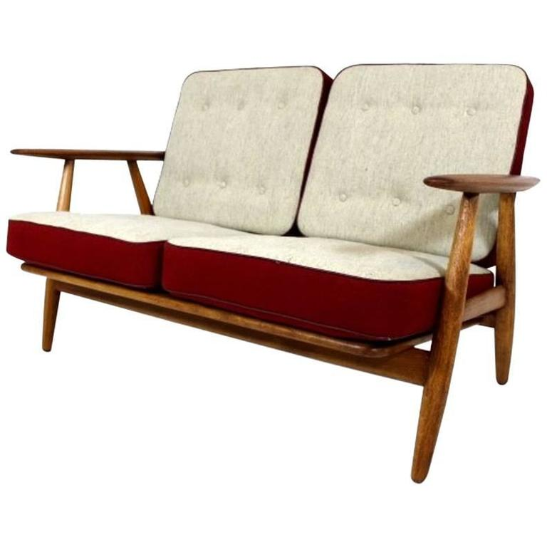 Two-Seat Cigar Sofa GE240 by Hans J Wegner 1