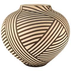 Nicholas Bernard Striped Ceramic Vessel