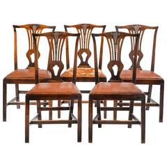 Set of Five George III Mahogany Dining Chairs