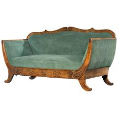 Regency Period Walnut Sofa on Swept Sabre Supports