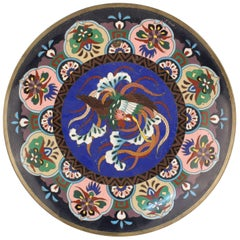 Enamel Plate with Phoenix