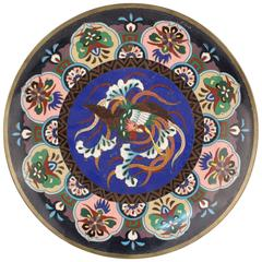 Enamel Plate with Phoenix