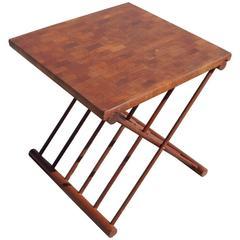 Jens Quistgaard Folding Table Tray Teak Wood, 1960