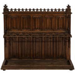 19th Century Victorian Period Gothic Oak Stick Stand in the Manner Pugin