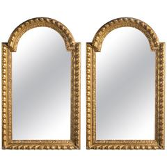 Pair of Mid-19th Century Giltwood and Gesso Mirrors