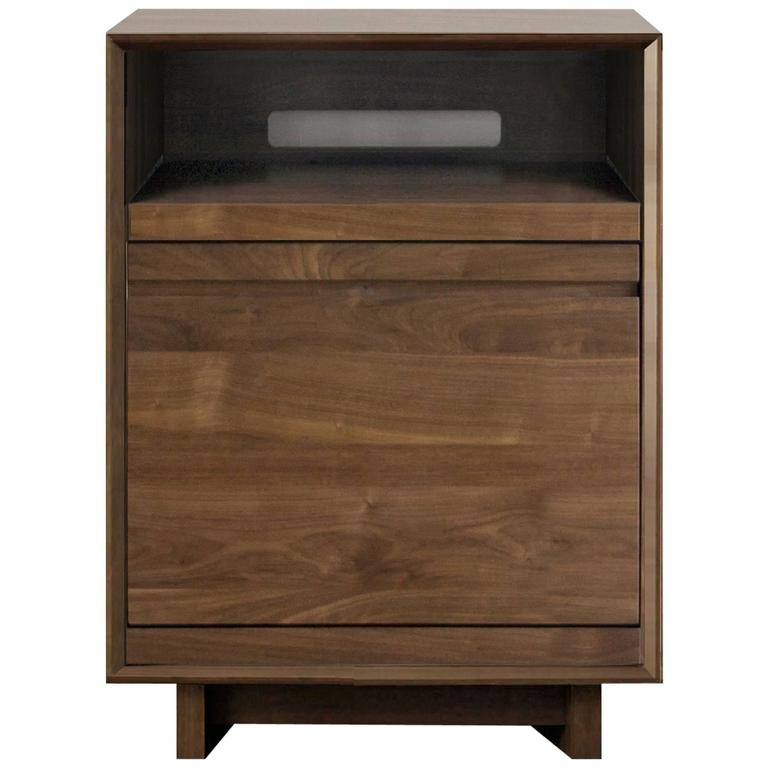 Modern Record Stand And LP Storage Entertainment Cabinet For Sale