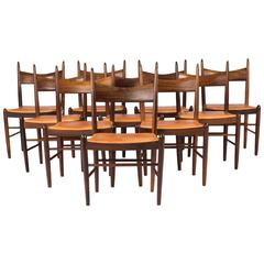 Set of Ten Dining Chairs by H. Vestervig Eriksen