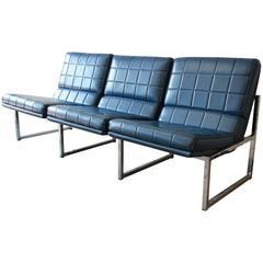 Milo Baughman Style Three-Seat Sofa by Chromcraft, 1970s
