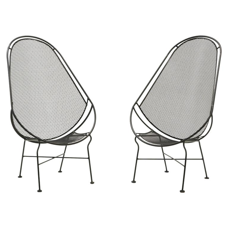 Pair of Indoor or Outdoor Chairs by John Salterini. Rare Version. Fully Restored 1