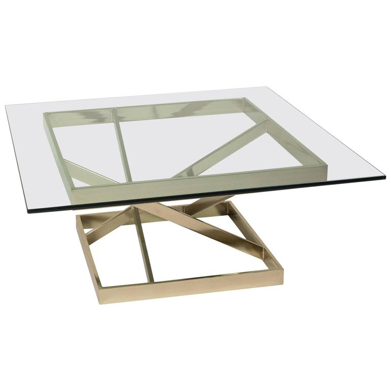 Intersecting Angles Coffee Table, 1990s 1