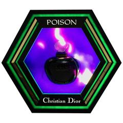 Multicolored Billboard Light for Poison Parfum by Christian Dior, 1985
