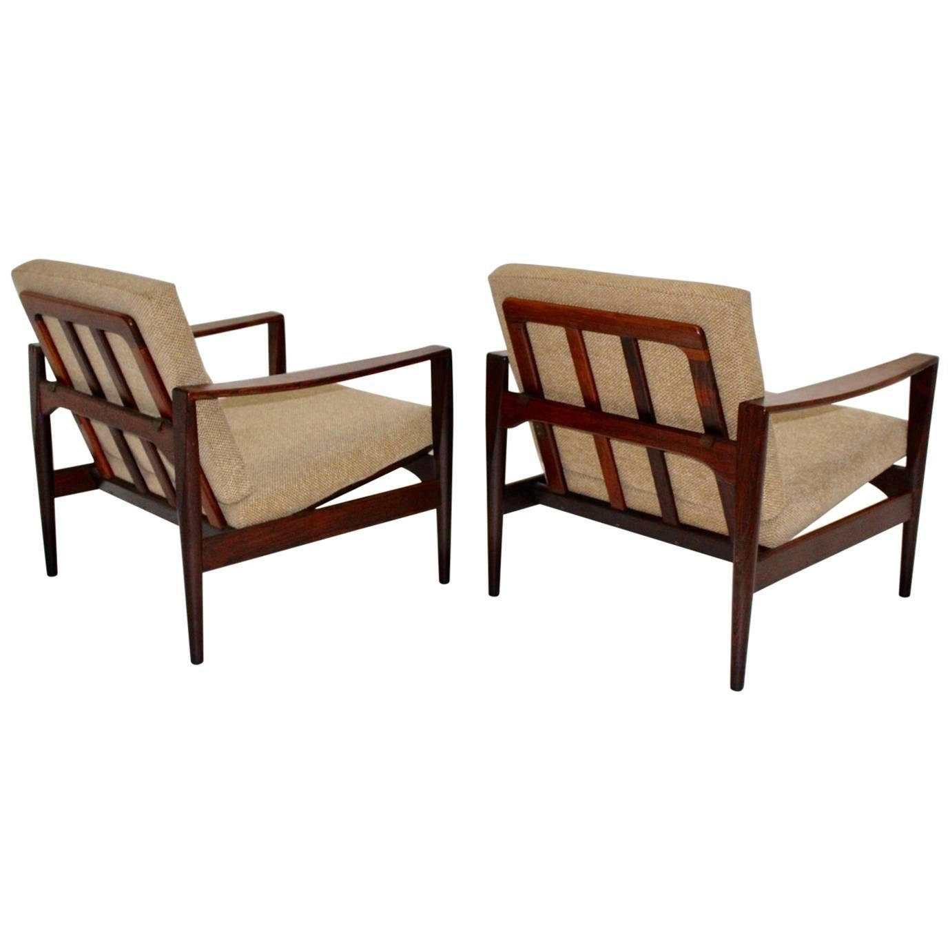 Scandinavian Modern Teak Vintage Lounge Chairs Arne Wahl Iversen, 1960, Denmark