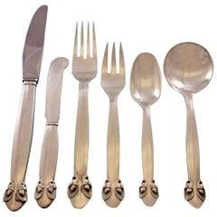 Bittersweet by Georg Jensen Sterling Silver Flatware Set 8 Dinner Service 49 Pcs