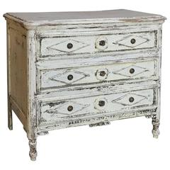 Early 19th Century Country French Directoire Painted Neoclassical Commode