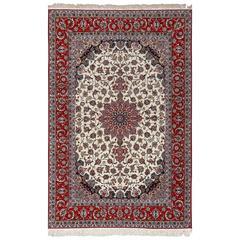 Ivory Vintage Isfahan Persian Rug