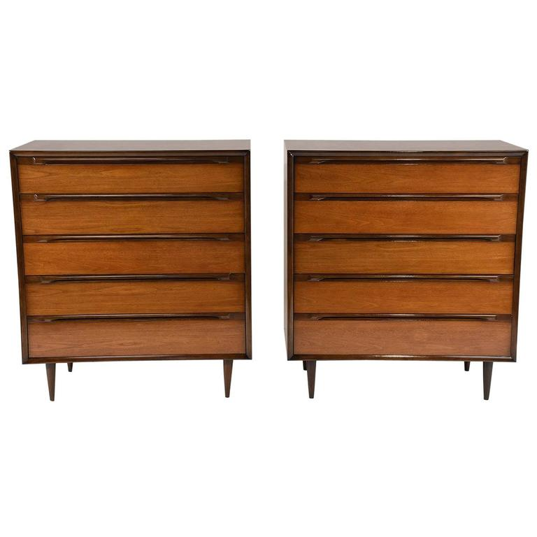 Pair of Mid-Century Modern-Style Bachelor Chests
