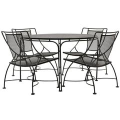 John Salterini Lounge Height Patio Table And Four Chairs, Expertly Restored