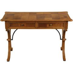 Tomlinson Italian Style Desk with Parquetry Burled Veneer Top