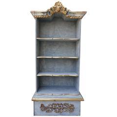 Italian Panted & Parcel Gilt Bookshelf with Cherub Face