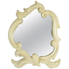 French Molded Plaster Mirror, 1940s