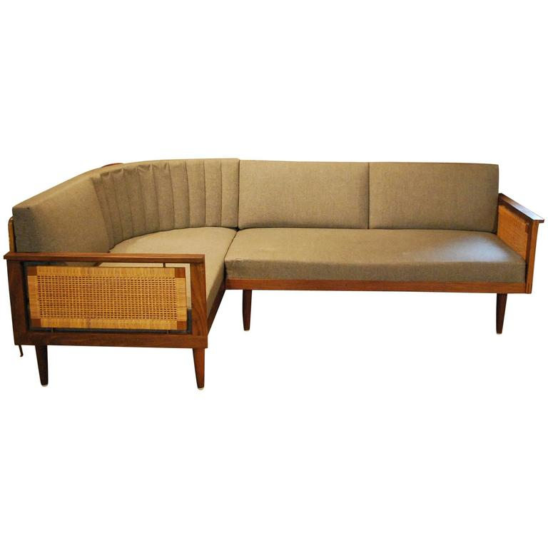Mid century rosewood corner sofa bed circa 1960 for sale for Mid century sectional sofa for sale