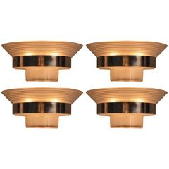 Set of Four French Art Deco Wall Sconces