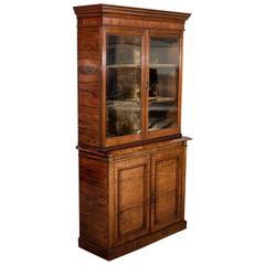 Antique Display Cabinet, Tall, Victorian, Bookcase, Circa 1900