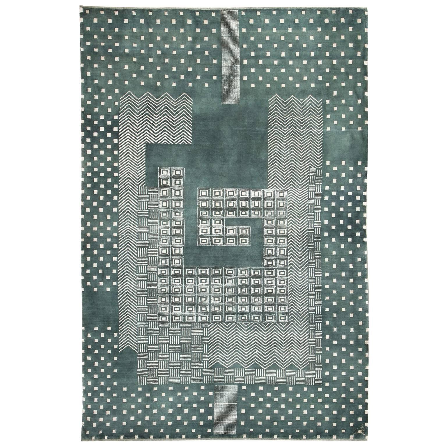 Orley Shabahang Signature Labyrinth Carpet in Handspun Wool and Vegetable Dyes