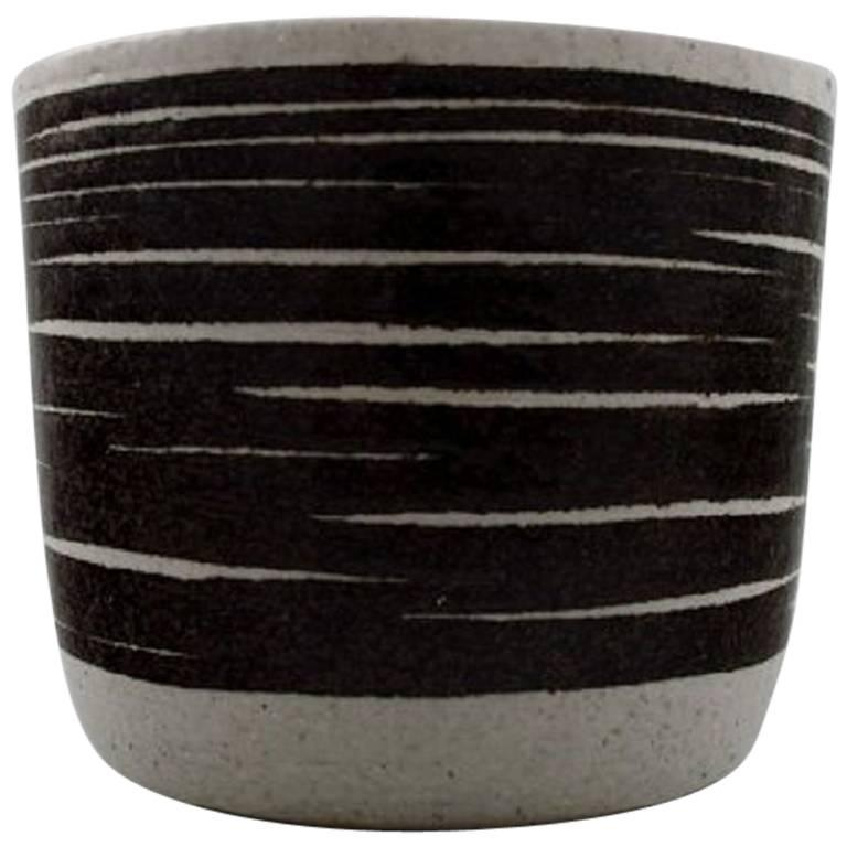 Ceramic Vase from Palshus by Per Linnemann-Schmidt, Renowned Danish Potter
