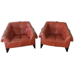 Percival Lafer Leather Sling Chairs