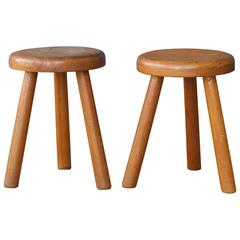 Pair of French 1960s Milking Stools