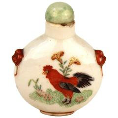 Snuff Bottle with Roosters