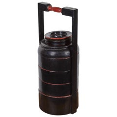 Burmese Lacquer Stacked Food Container