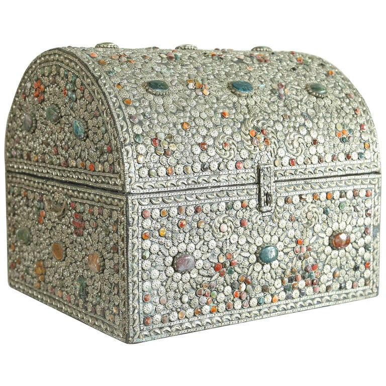 Large Moroccan Treasure Chest For Sale