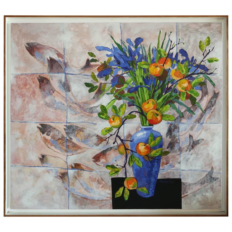 "Original Painting Titled ""Reunion"" by Armando Jimenez For Sale"