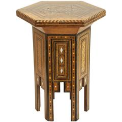 Six Sided Inlaid Syrian Stand