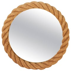 Nautical Style Mirror with Rope