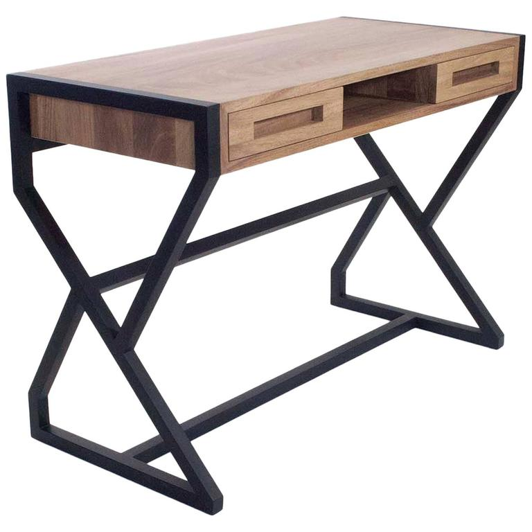 Contemporary Levita Desk in Solid Matilisguate Wood by Labrica For Sale