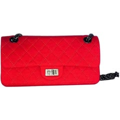Red Quilted Chanel Handbag / Purse Serial 11642905