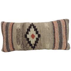 CLOSE OUT SALE: Vintage Southwestern Woven Wool Decorative Lumbar Pillow