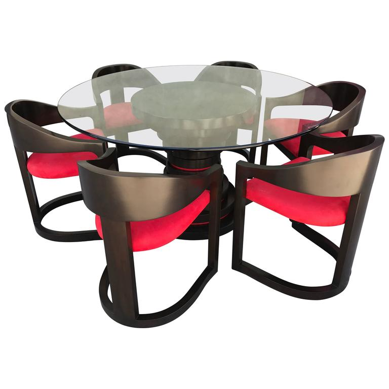 Stunning Dining Set in the style of Karl Springer 1