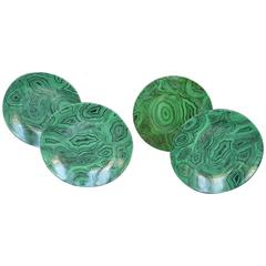Set of Four Malachite Fornasetti Plates