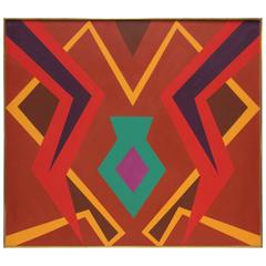 Geometric Abstract Painting by Herbert Busemann