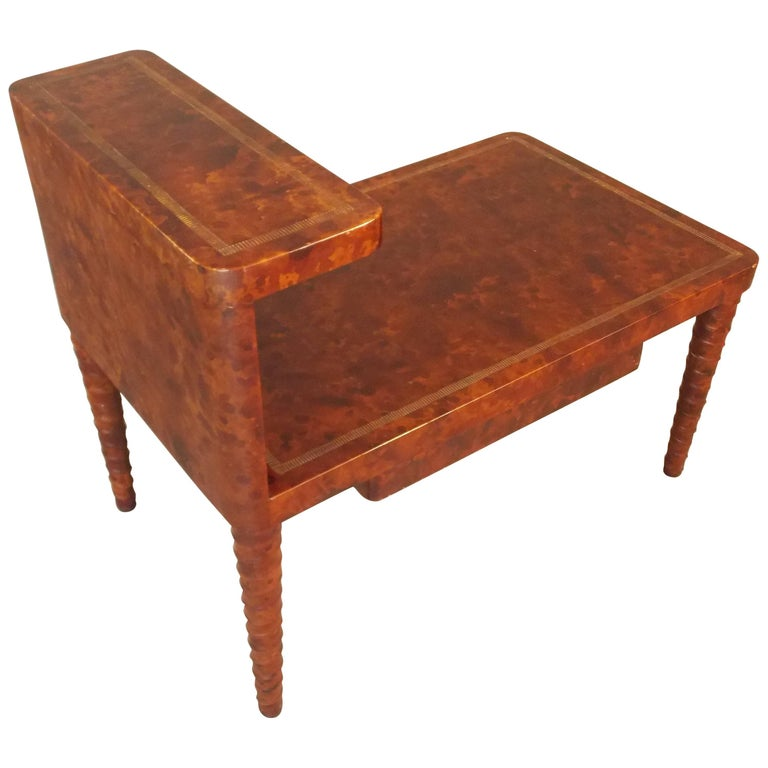 William Billy Haines Leather Table For Sale