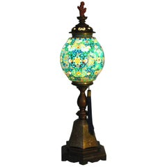 Chinese Lamp with a Plique-A-Jour Shade