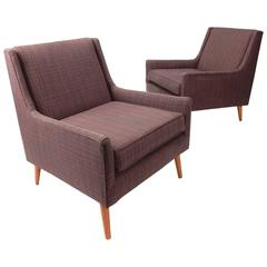 Sophistocated Mid-Century Modern Lounge Chairs